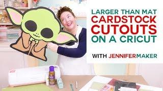 DIY Cardstock Cutouts Larger Than Mat: Baby Yoda Is Off the Mat!