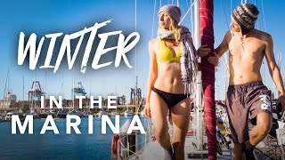 How we survive BOAT LIFE in dead WINTER (in Valencia Marina)