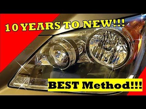 Just like New!! Headlight Restoration!  Sylvania Headlight Restoration Kit! Best Method out there!!!