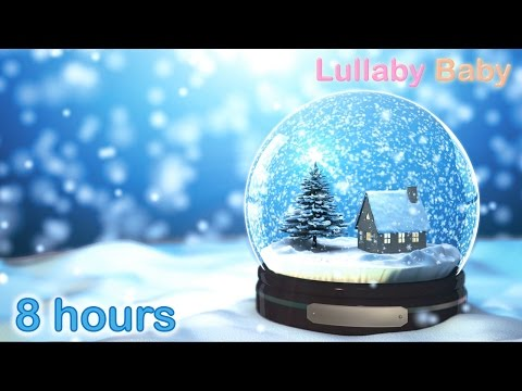 ☆ 8 HOURS ☆ CHRISTMAS MUSIC ♫ HARP Carols ☆ Christmas Music Instrumental ☆ Snow Falling / Snowflakes