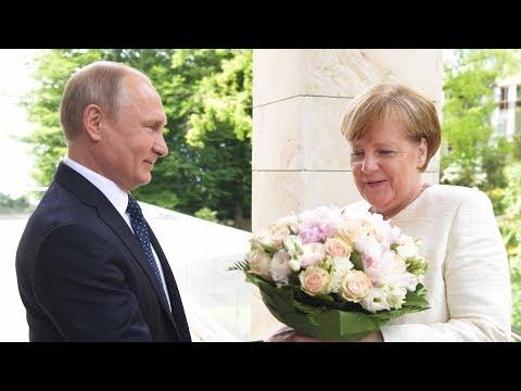 Merkel trifft Putin: Weiße Rosen und eine Portion Misstrauen in Sotschi