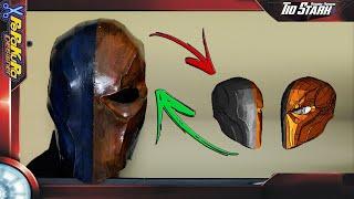 #21 Tio Stark - Pepakura / Papercraft - Mascara Deathstroke ( Batman Arkam Origens ) Como Fazer