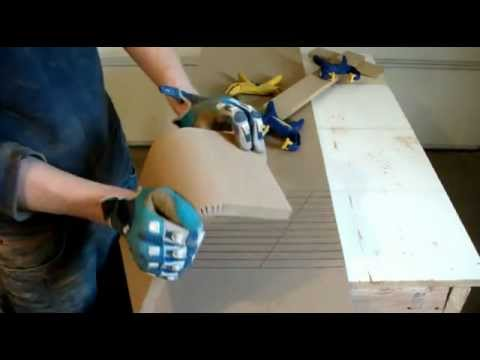 Kerfing 101 how to kerf mdf for your subwoofer enclosure for Fabriquer meuble mdf