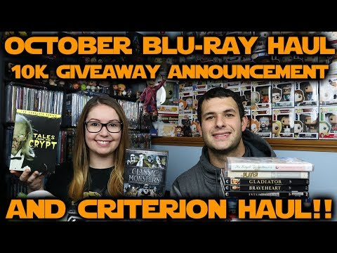 October 2018 Blu-ray Haul // 10K Subscriber Giveaway // Criterion Haul!!!