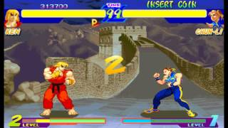 Street Fighter Alpha:Warriors' Dreams Expert Difficulty Ken Masters no lose Playthrough