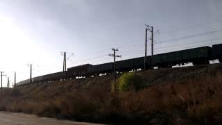 281. [УЗ] 2ТЭ116 с грузовым поездом
