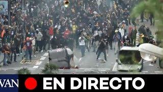 EN VIVO. Crisis en Cataluña: otra vez tiros, corridas e incidentes se apoderan de las calles en Barcelona