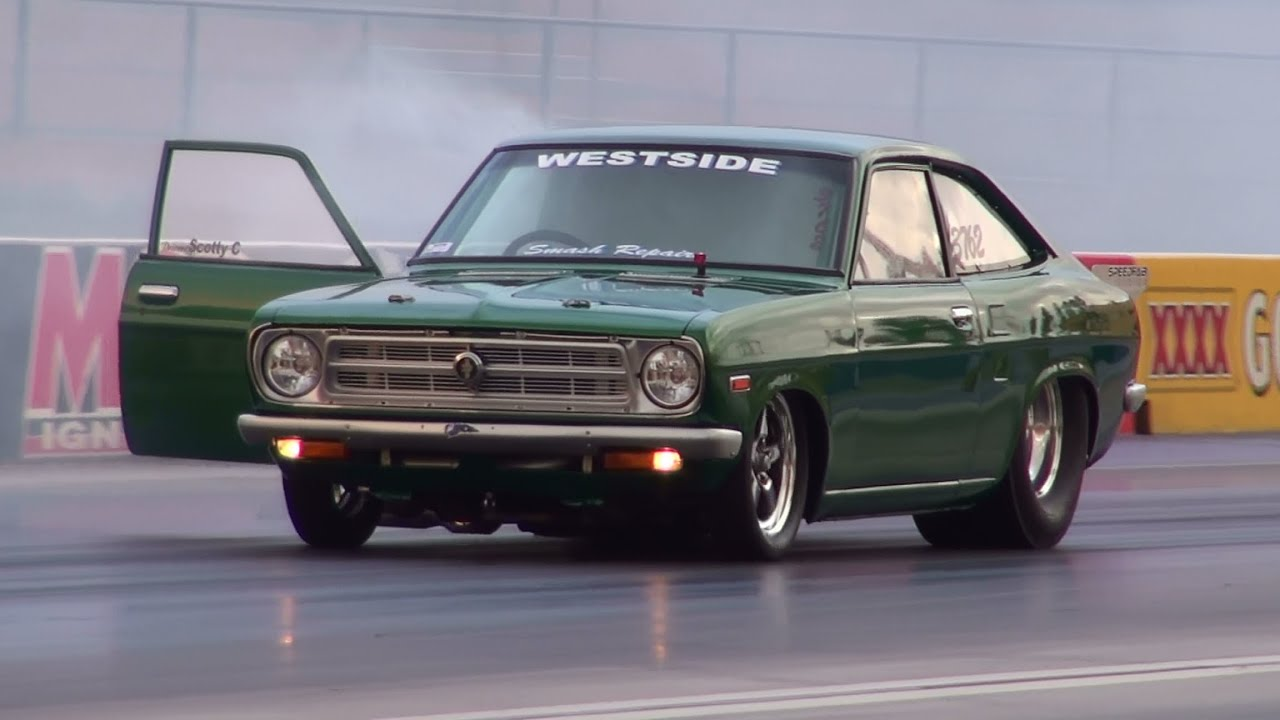 2jz powered datsun 1200 coupe runs 7 67 182 mph sydney dragway 18 1 2013 youtube