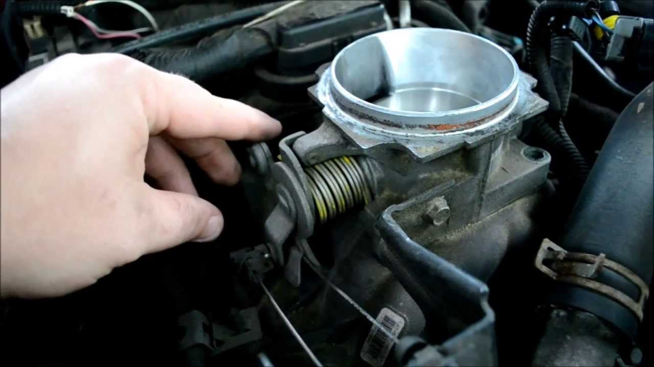TUTORIAL HOW TO clean Vortec Throttle body 57L Chevy Gmc  YouTube