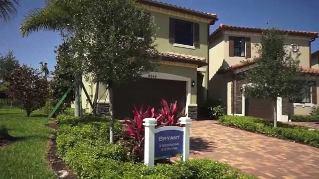 The Bryant Model At Central Parc New Homes By 13th Floor Homes Broward County Youtube