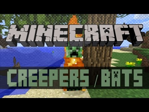 Minecraft Mods 1.4.6 - Creepers No Creeping & Bats Drop Leather