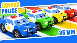Learn Colors with Police Cars | Kids | Color Rainbow | Police Color