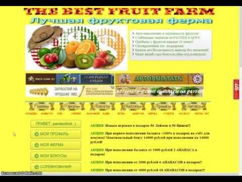 Лучшая фруктовая ферма! Пассивный заработок для каждого!