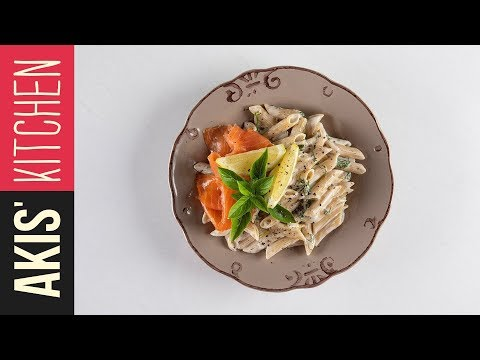 Healthy salmon penne | Akis Petretzikis Kitchen thumbnail