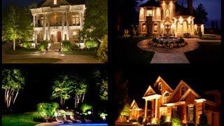 Светодизайн загородного дома Outdoor lighting design project