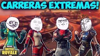 CARRERAS EXTREMAS! - MOMENTOS DIVERTIDOS (Funny Moments) | FORTNITE - PACO TORREAR