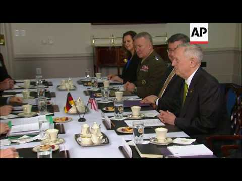 Mattis Meets With German Defense Minister