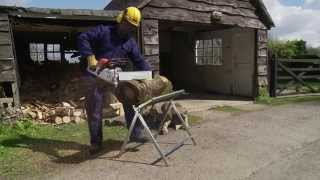 How To Cut Logs Safely With A Chainsaw With Dabaro's Logmate [log Sawhorse]