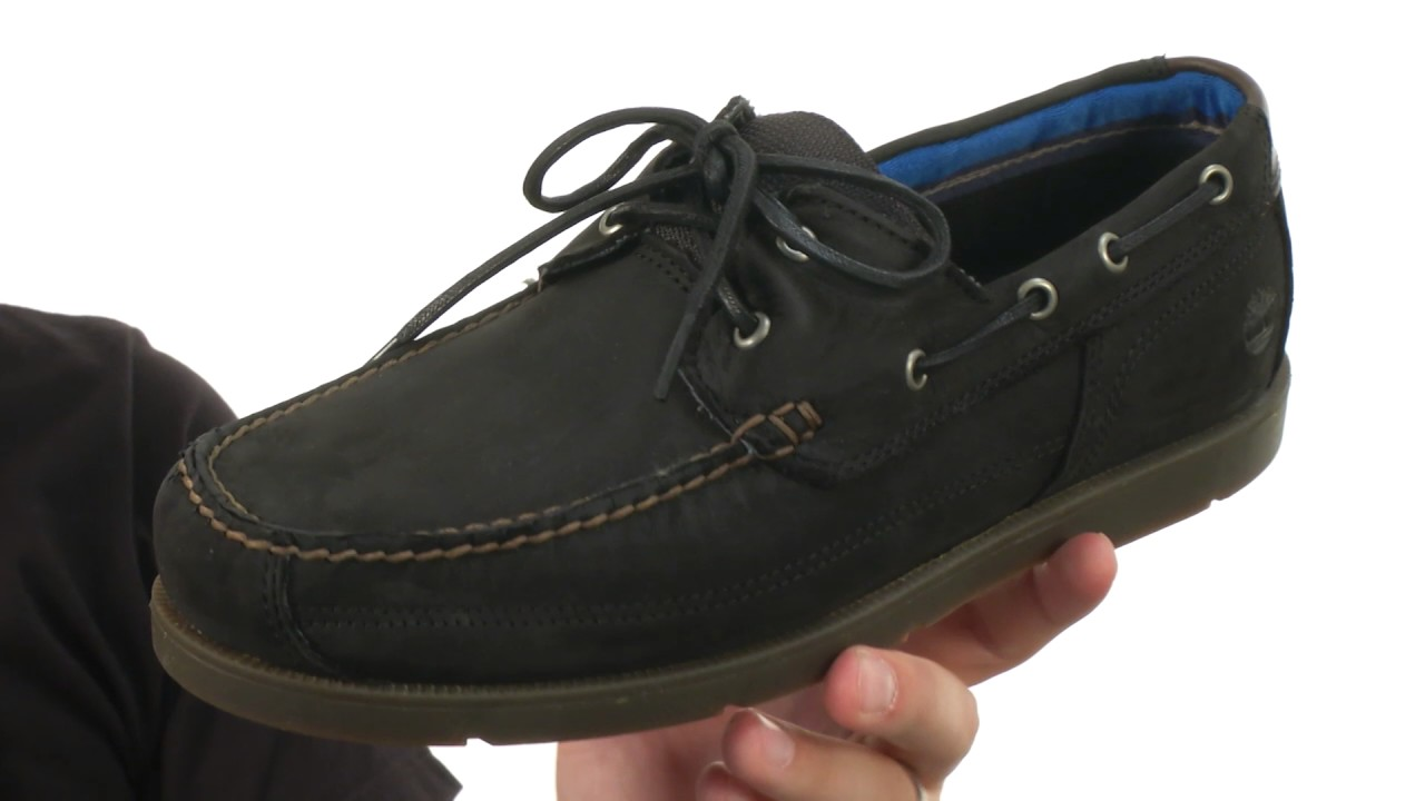 cc6a1c54a8 Timberland Piper Cove Leather Boat Shoe SKU:8812619 - YouTube