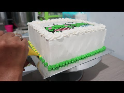 How to Decorating Birthday Cake Keroppi for Kids -  How to Make Cake Tart Simple