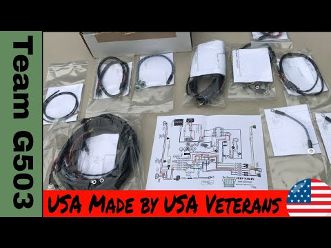 jeep military wwii willys mb ford gpw, a2002 b wiring harness midteam g503 product spotlight willys mb wiring harness ron fitzpatrick jeep parts