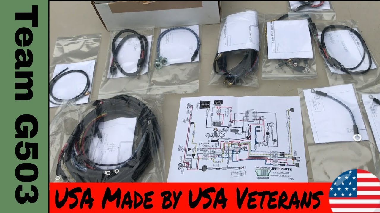 Team G503 Product Spotlight Willys MB Wiring Harness Ron Fitzpatrick Jeep Parts  YouTube
