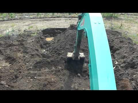 【開墾】重機で小石を取り除くシンプルな方法(ユンボ・バックフォー)