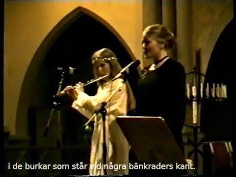 Delar av LUCIAKONSERT 1987-1998 med Gitte H.-D:s musikskola