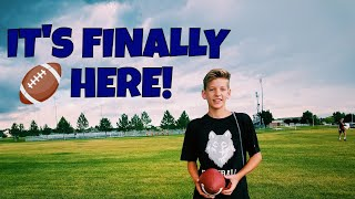 FIRST DAY OF HIGH SCHOOL FOOTBALL PRACTICE