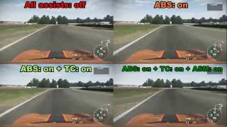 Driving Assists in racing games: The Truth