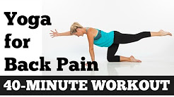 Back Pain Relief, Yoga for Back Pain - 40 Minute Gentle Yoga for Back, Sciatica