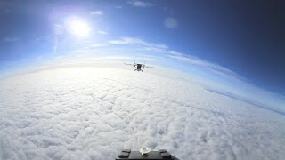 360 view of wingsuit highspeed exit outta Pink skyvan at 130knt