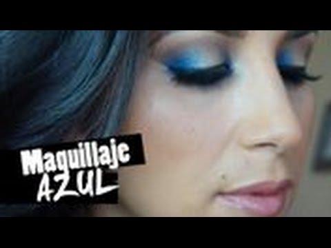 c582ef0f8 Maquillaje de la temporada  azul con dorado - YouTube