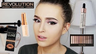 TESTING NEW MAKEUP REVOLUTION | FOUNDATION STICK, CONCEALER, FOILED EYESHADOWS