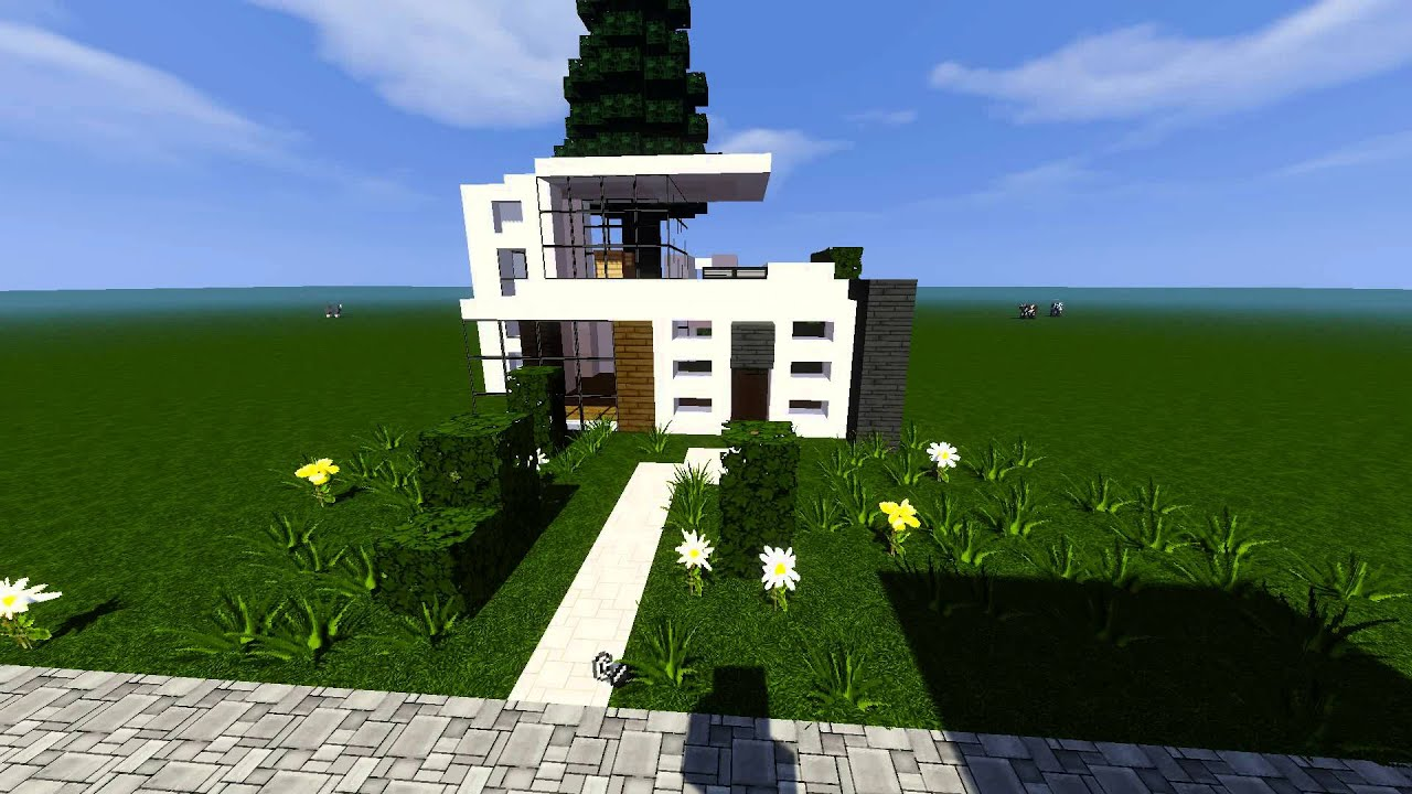 Moderne kleine villa in minecraft youtube - Minecraft villa ...