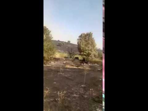 Incendio en Gallegos de Argañán