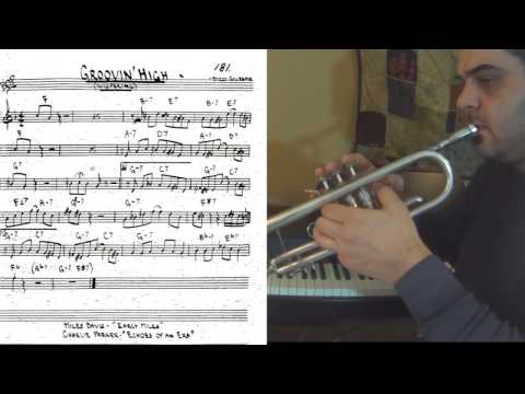 Groovin' High - trumpet cover theme tutorial