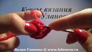 Шарик - вязание крючком (шарик новогодний)