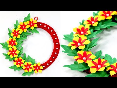 DIY Wall hanging_Wall hanging ideas with color paper | Nusrat DIY Crafts