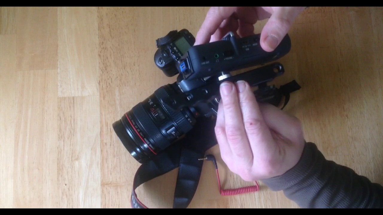 DSLR audio with zoom H5 - YouTube