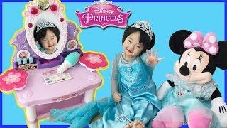 겨울왕국 엘사로 변신! 어린이 화장대 장난감 놀이 Rapunzel Makeup Table 리틀조이