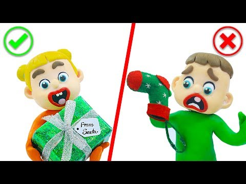 SUPERHERO BABY CHRISTMAS GIFT FROM SANTA 馃挅 Play Doh Cartoons For Kids
