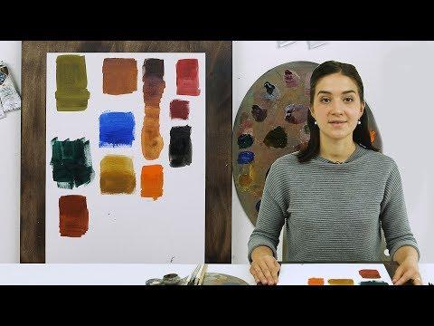 Базовый набор масляных красок