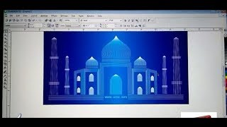 How To draw TAJ MAHAL with BLEND TOOL IN COREL DRAW 2017