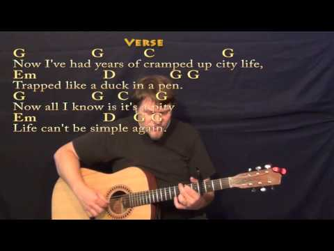 Rocky Top (Osbourne Brothers) Fingerstyle Guitar Cover Lesson with Lyrics/Chords