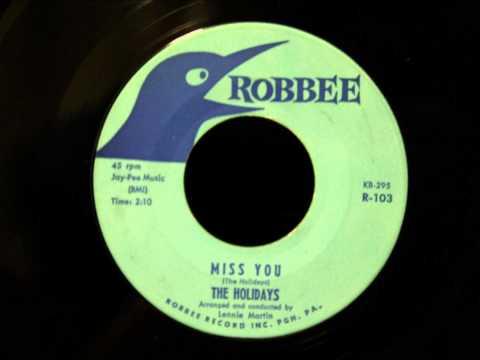 Holidays - Miss You - Beautiful Pittsburgh Doo Wop Ballad