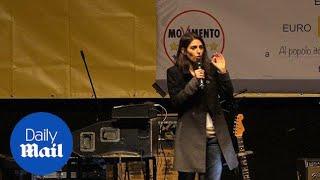 Rome's mayor Virginia Raggi protests Italian PM's reforms - Daily Mail