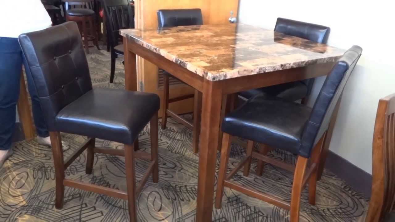 theo counter height dining table and 4 chairs. theo counter height dining table and 4 chairs youtube