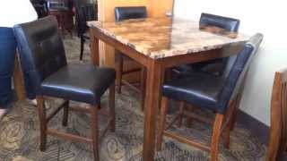 Ashley Theo Dinette Counter Height Table Set D158 Review