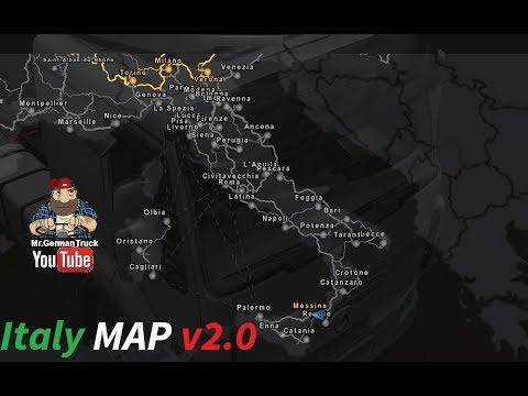 mappa italia euro truck simulator 2
